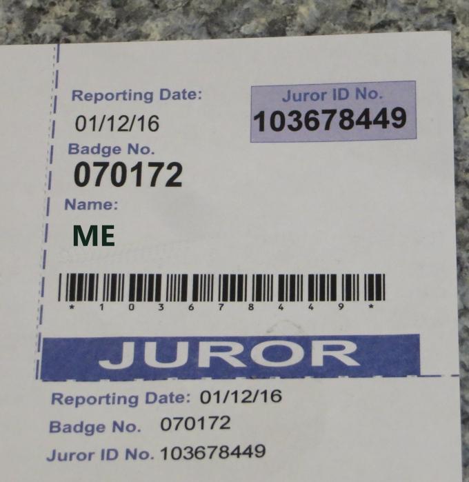 juror id number