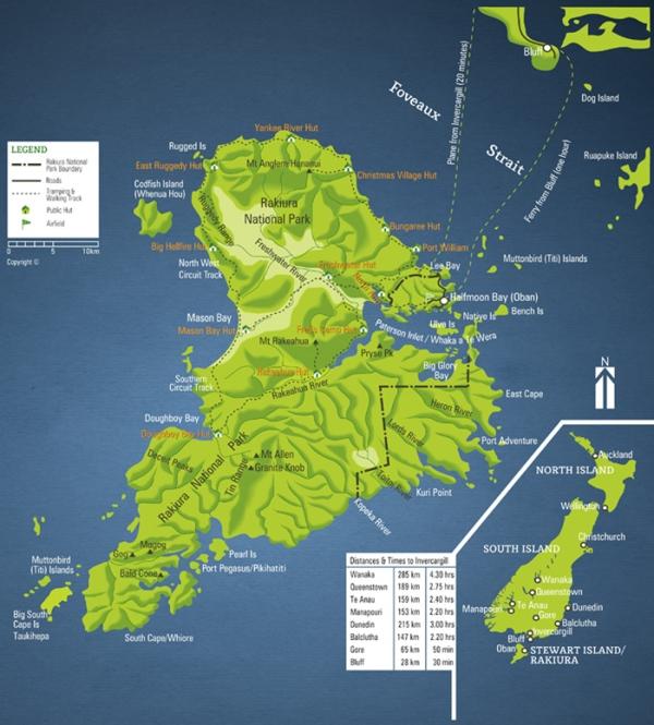 stewart island map