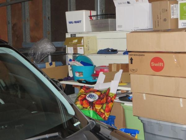 crammed garage