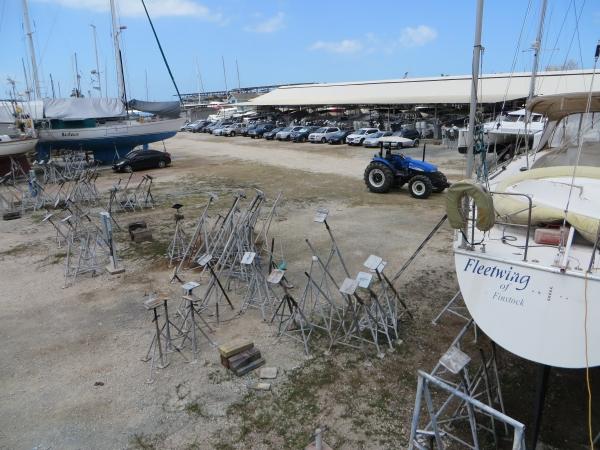 empty boatyard