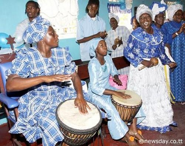 shouter baptists drumming and singing