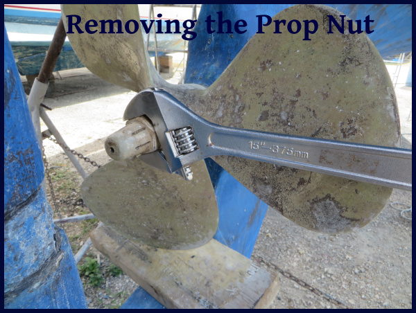 removing the prop nut