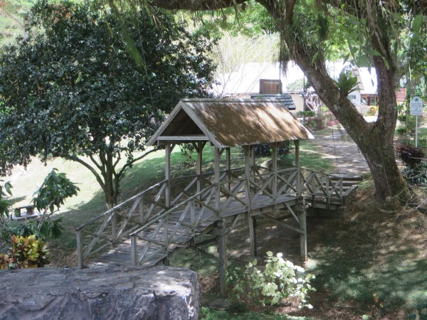 bridge to lopinot historic site in trinidad