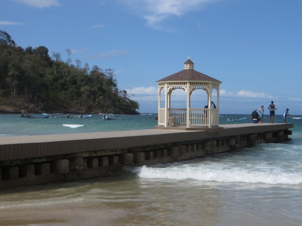 maracas beach gazebo in trinidad