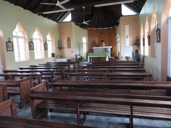 inside the church in trinidad
