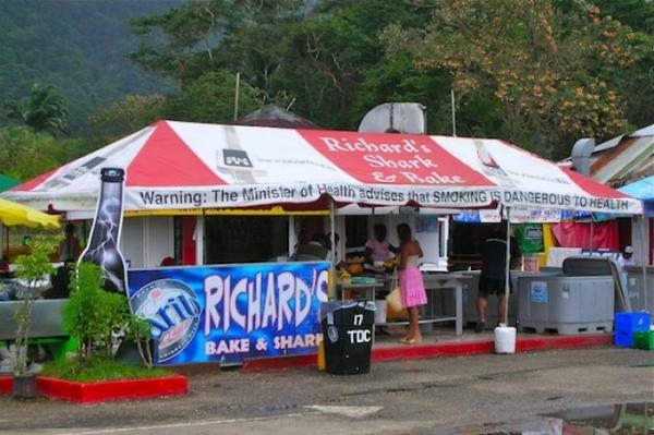 bake and shark in trinidad