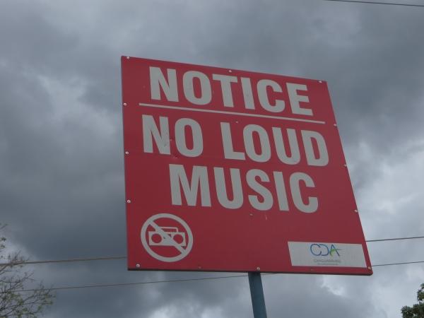 no loud music in trinidad