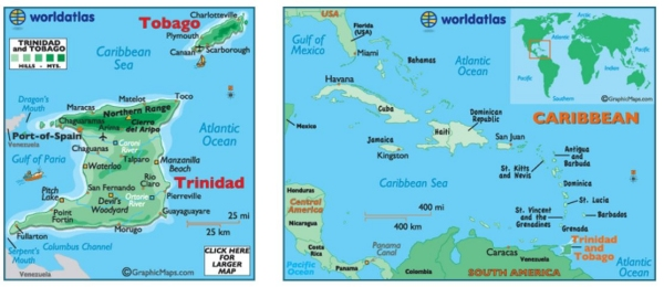 map of trinidad and tabago