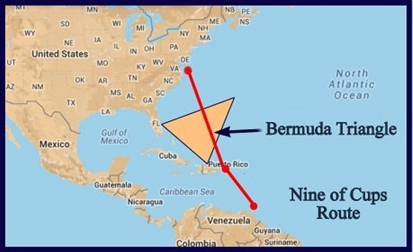 route through the bermuda triangle