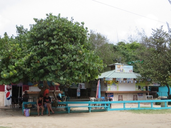 food stands on flamenco beach