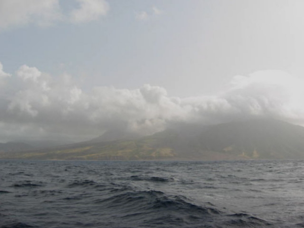 montserrat smouldering in the caribbean sea