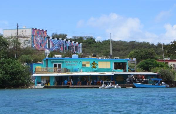 dinghy dock restaurant, dewey, puerto rico