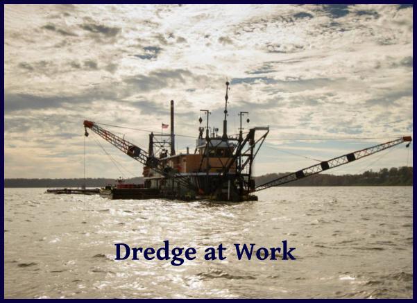 dredge at work