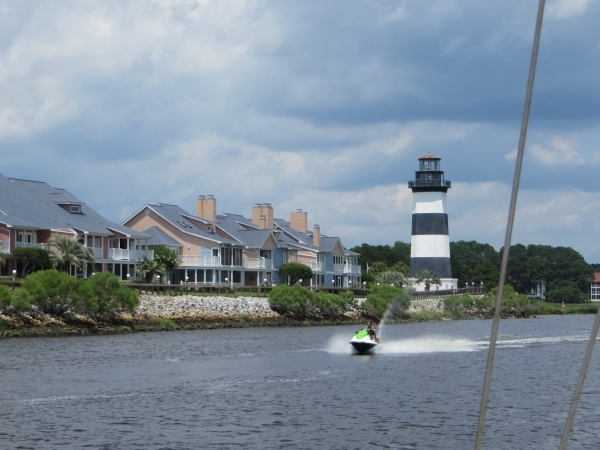 jet skier on the intracoastal waterway