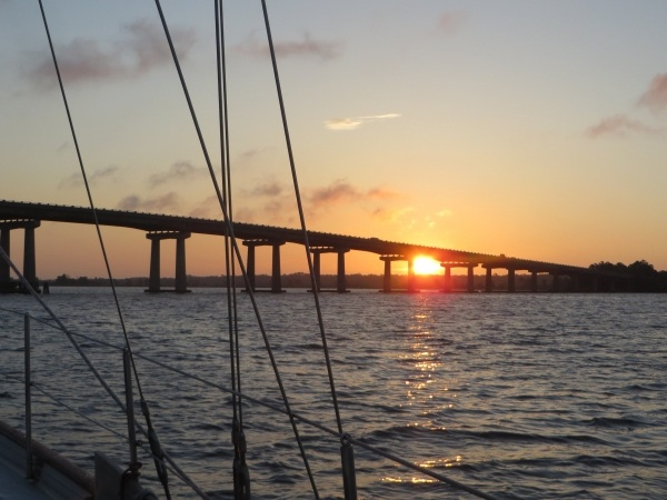 sunrise on the intracoastal waterway