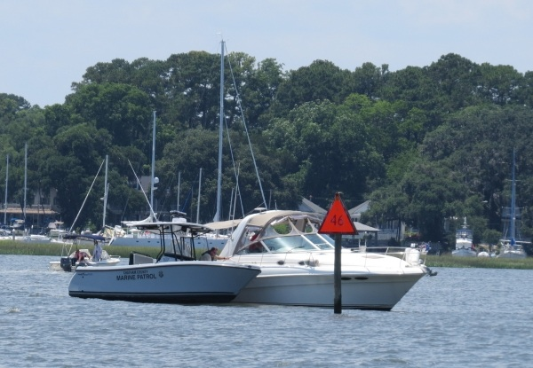 marine police on the intracoastal waterway