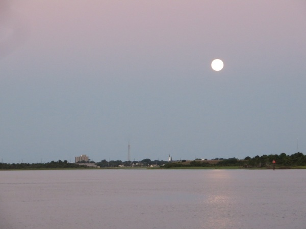 full moon on the intracoastal waterway