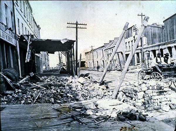Old photo of 1886 Charleston Earthquake