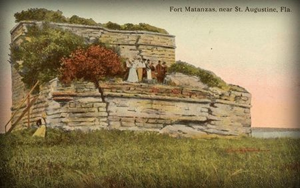 old fort matanzas post card