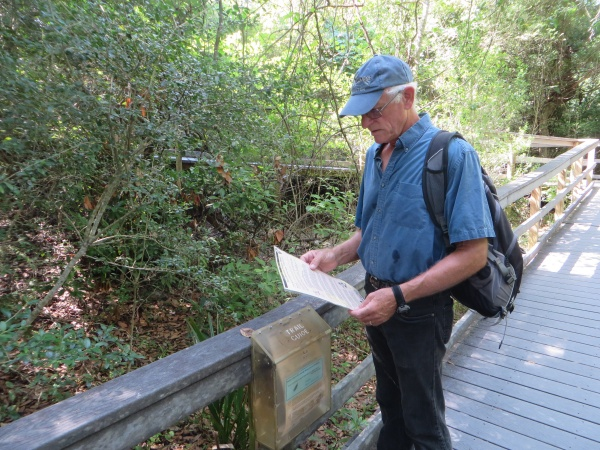 consulting the trail map