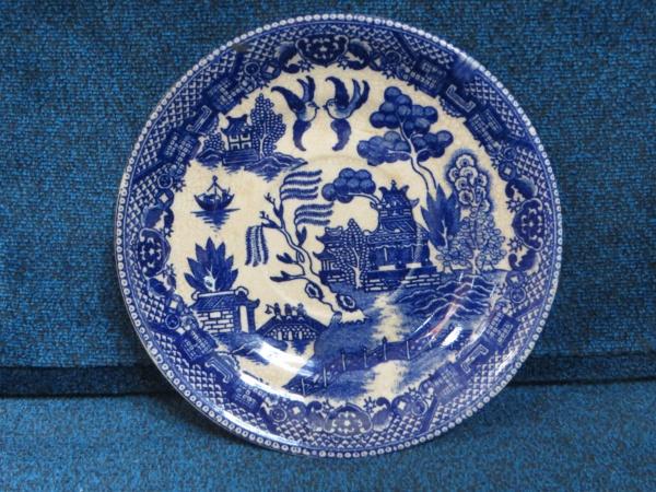 blue willow saucer