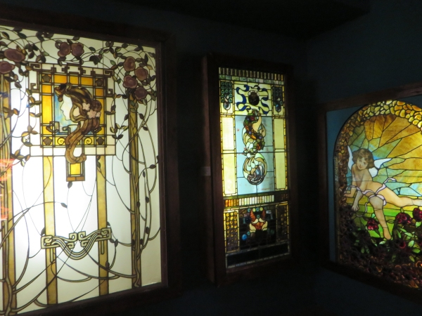 stained glass, lightner museum, st. augustine, florida