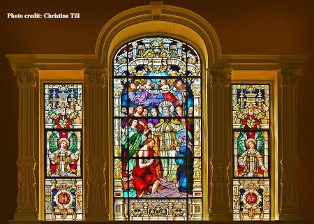 stained glass in st. augustine cathedral
