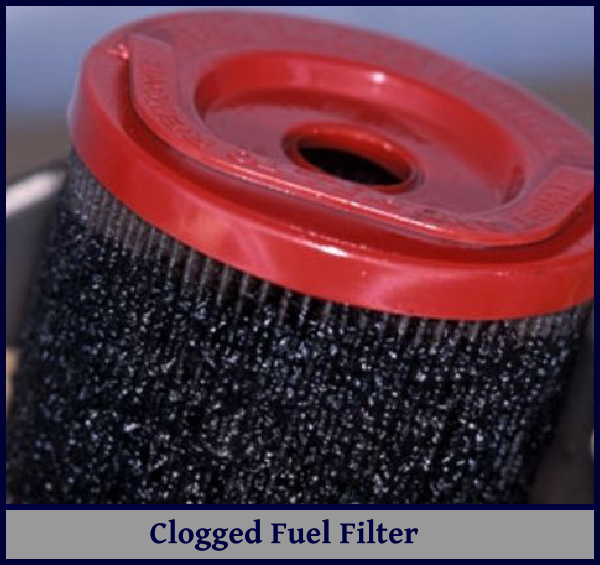 clogged filter