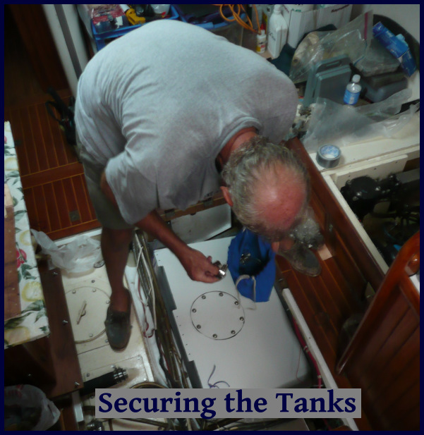 securing the tanks