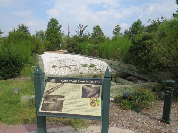 replica causeway at great bridge chesapeake virginia