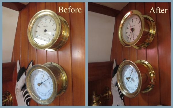 before and after clock