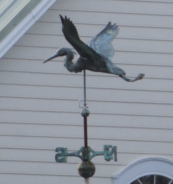 blue heron weather vane in chesapeake virginia