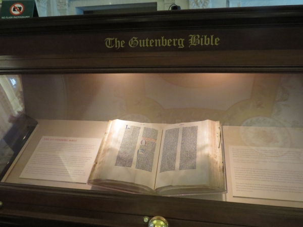 gutenburg bible at library of congress washington dc