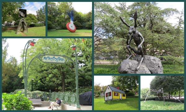 sculpture garden collage