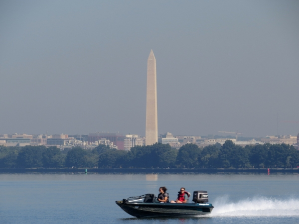 washington monument from the sea