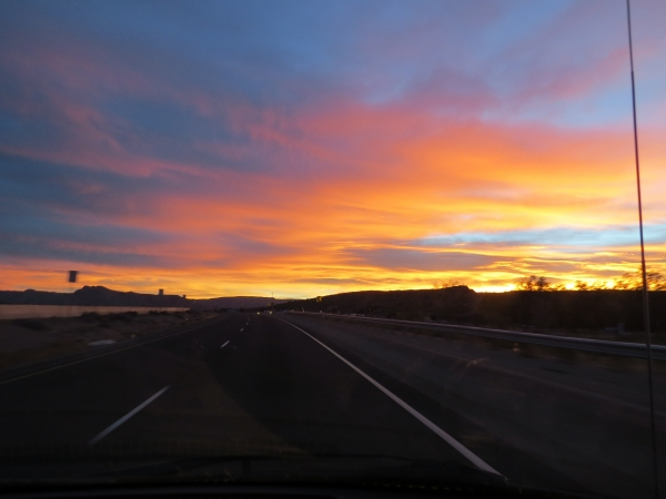 sunrise on the way to grand junction