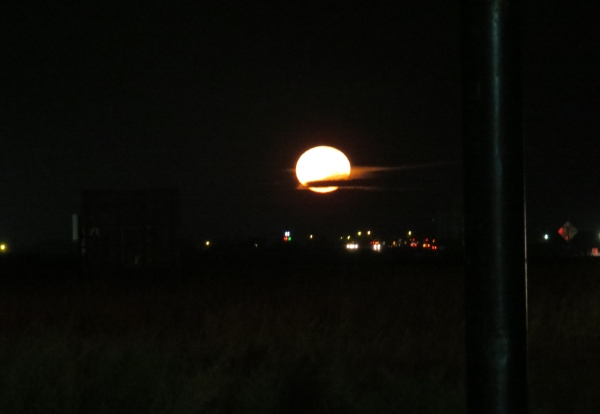 full moon over amarillo texas