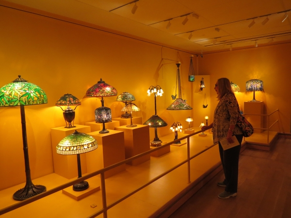 tiffany lamps at the morse museum in florida