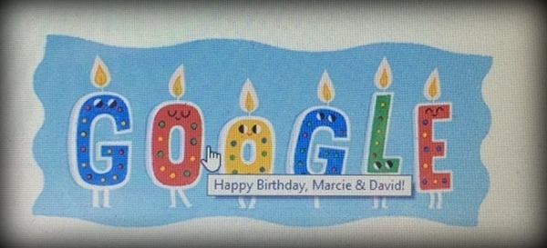 a happy birthday from google