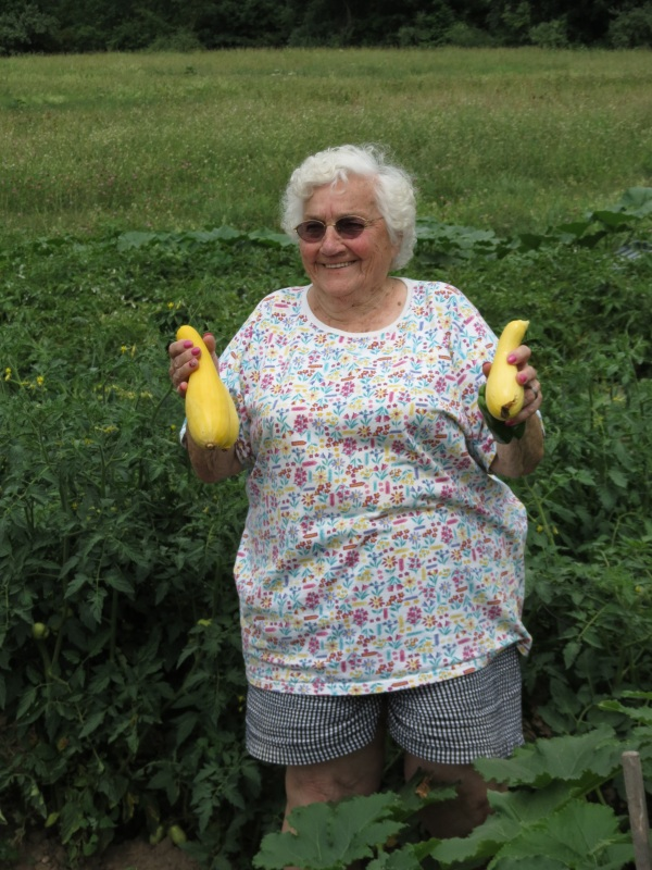 aunt bette in the garden