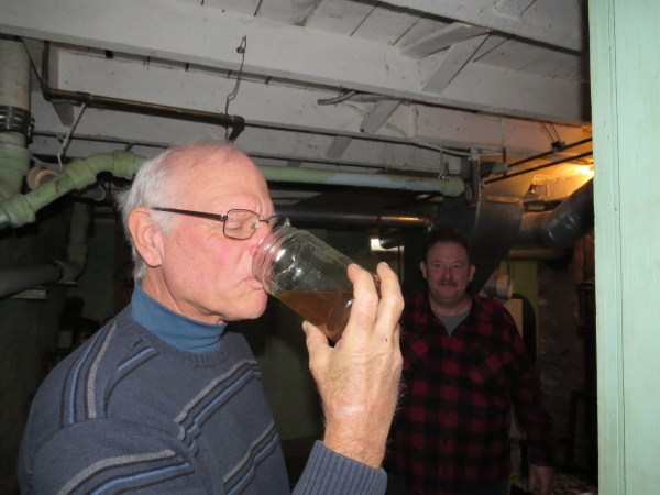 david tries the dandelion wine