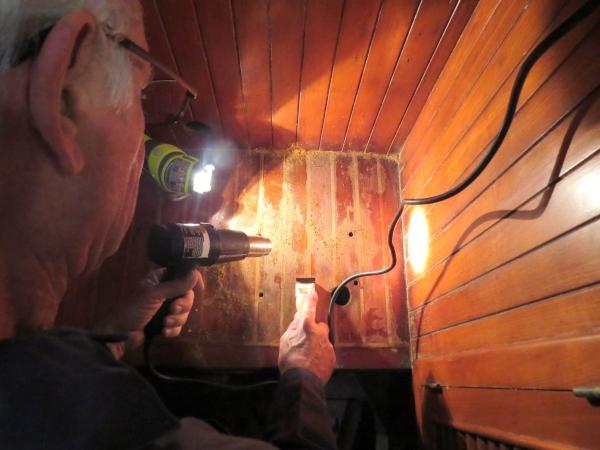 sanding the forward sole