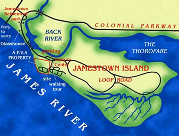 Map of Historic Jamestown