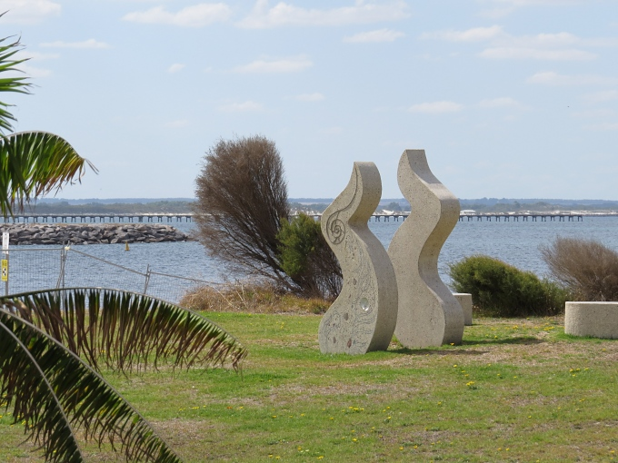 Sculpture on the foreshore