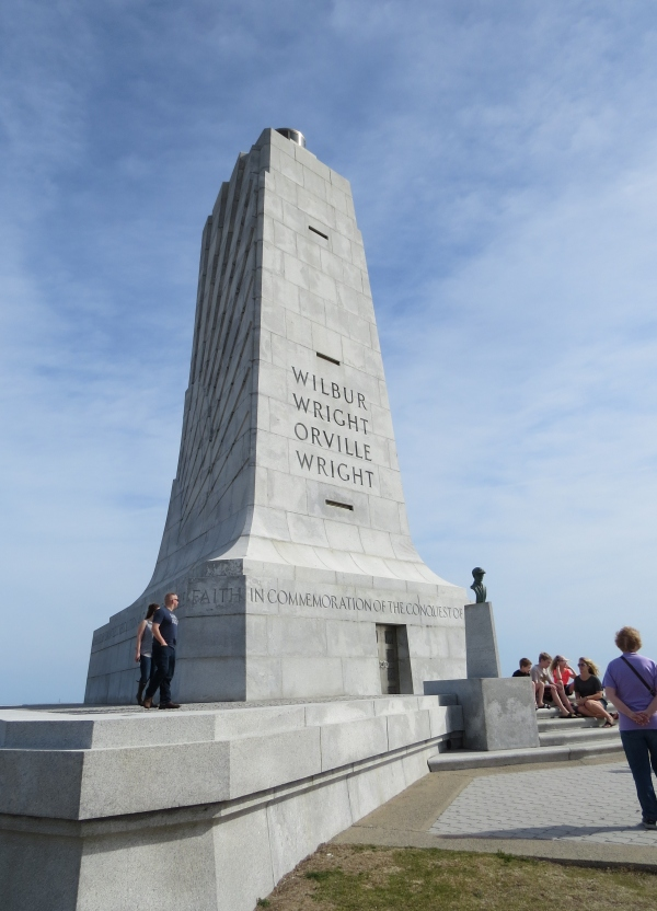 Wright Brothers Monument stands atop Kill Devil Hill