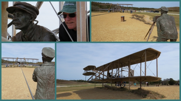 Wright Brothers Memorial replica first plane flight sculpture