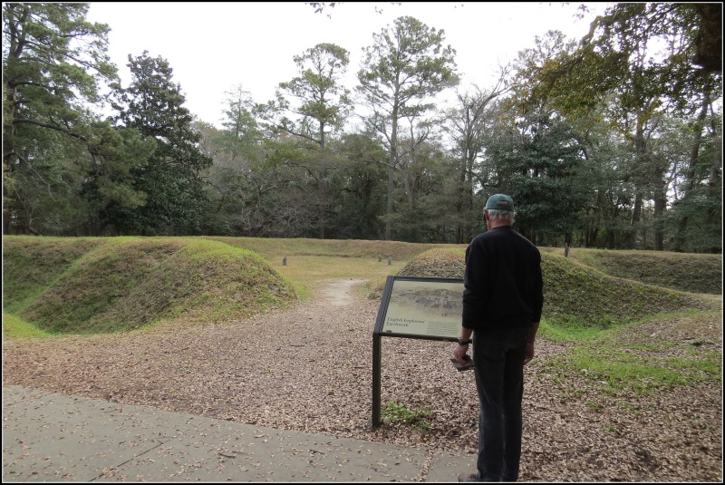 Reconstructed earthworks from Fort Raleigh
