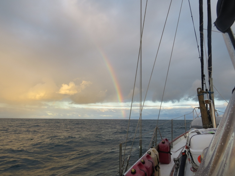 Sailing along the Rainbow Coast