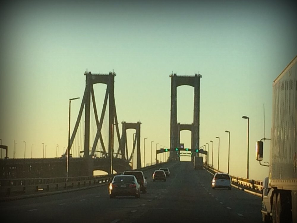 "The Delaware Memorial Bridge ""by the dawn's early light"""