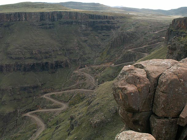 Hair-raising descent of Sani pass.                                Photo credit:  Sani Lodge
